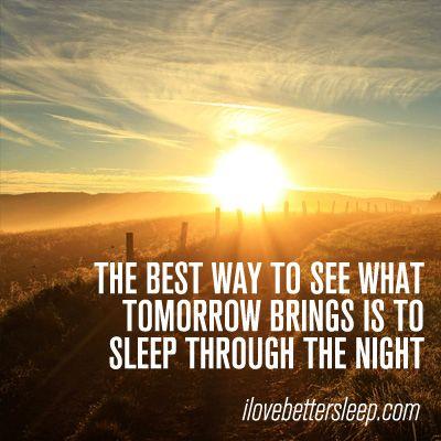 sleep through the night comfortably