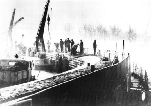 Building the Berlin wall