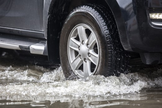 Driving through water can damage your trucks' brake calipers and destroy brake fluid.