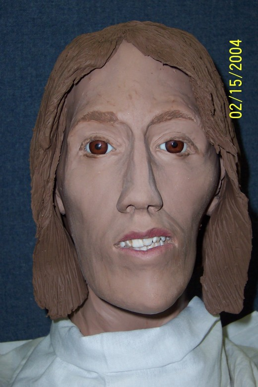 Reconstruction by Traci Schinnerer. Shows Jane as she may have looked thinner, with TMJ misalignment more prominent.