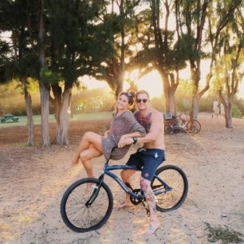 What better way for a couple to enjoy a date than to go bike riding.