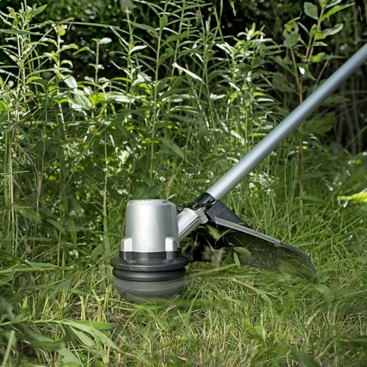 The EGO Power+ 15-Inch 56-Volt Lithium-Ion Cordless String Trimmer.  Trimmers come in different styles and you need to pick the right type for both the size of your yard, and the matter that you will be cutting.