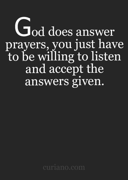 God hears our prayers and answers them