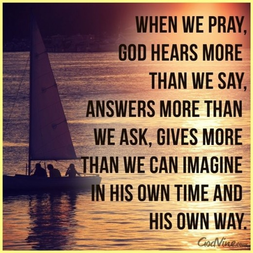 Prayer is limitlessly helpful