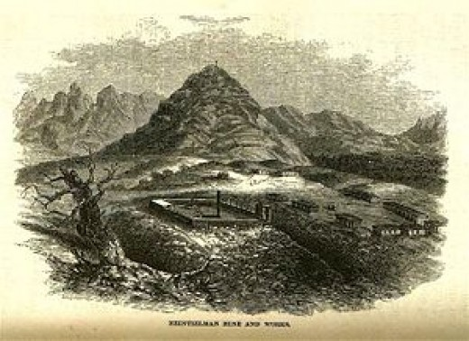 Fort Cerro by J. Ross Browne, 1864