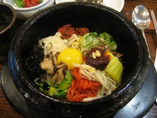 Bibimbap, traditional Korean food!