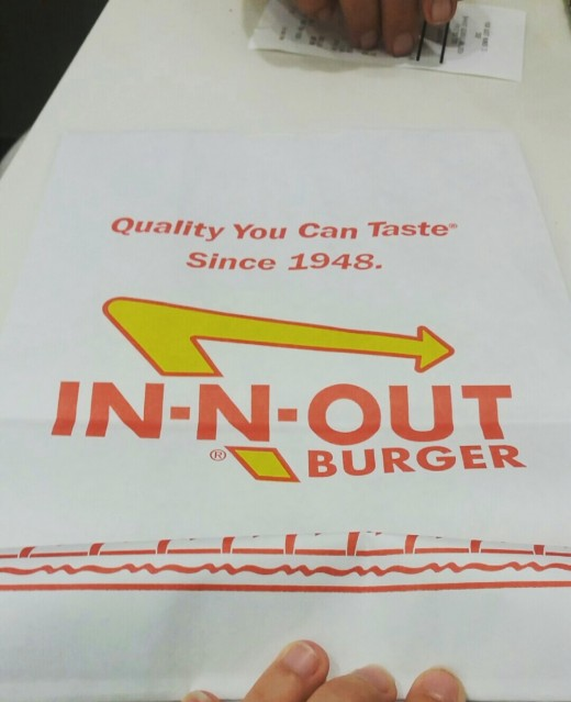 Famous In-N-Out bag.