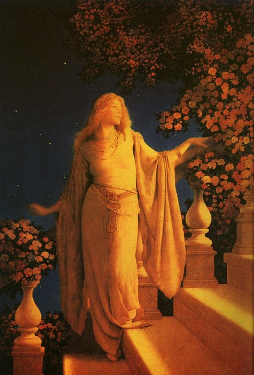 """Reverie"" by Maxfield Parrish"