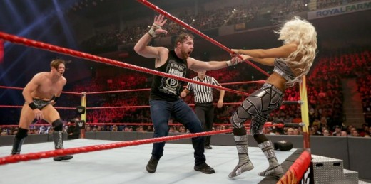 The Miz, Dean Ambrose and Maryse. Photo: WWE