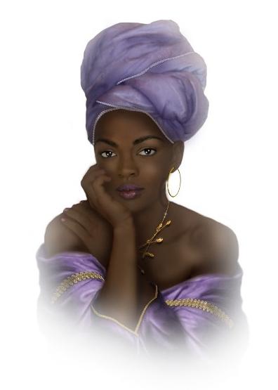 A portrait of Lauryn Hill
