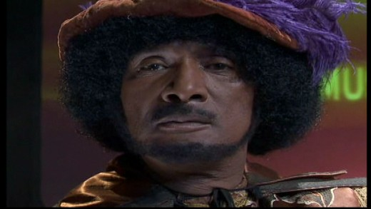 The future seer known as Negrodamus, played by Paul Mooney. Image copyright of Comedy Partners.