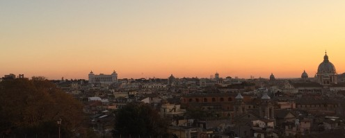 For the traveller to Italy deciding to eat an Aperitivo meal is a great way to try a variety of local food on a budget. A sunset over Rome and a good Aperativo spot.
