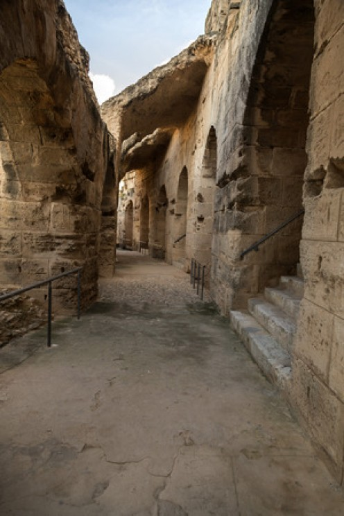 The Roman Amphitheatre at El Djem is in better condition than the Colosseum!