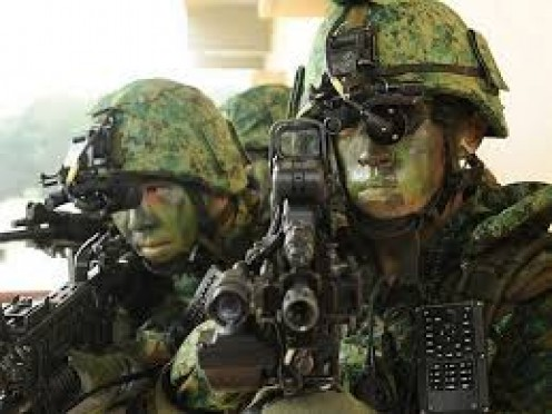 The military may be small but they are fully equipped and trained for battle.