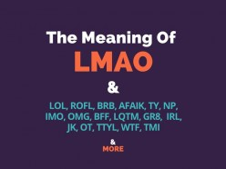 THIS is What LMAO Means! OMG, ROFL, BRB, AFAIK, BFF, TY, NP, IMO, & More!