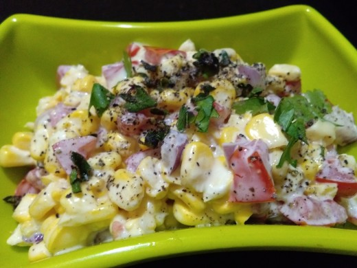 Corn yogurt salad