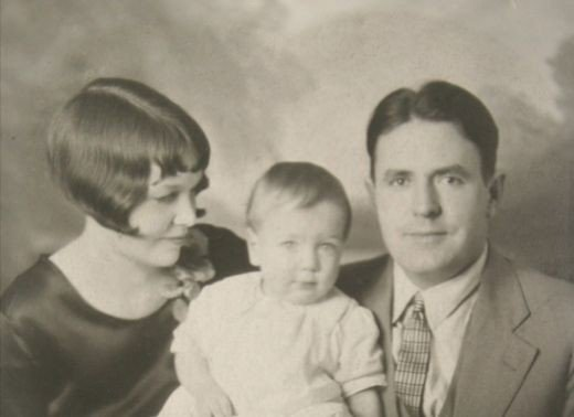 My father as a baby with his parents.