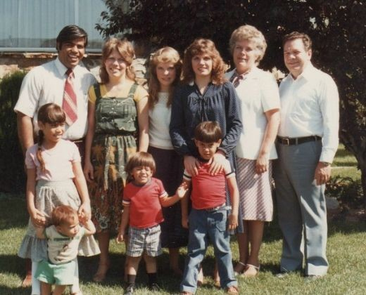 My family with my sisters and parents. Personal photo REK