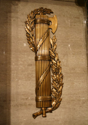 Yet another fasces symbol. This time on the wall at the U.S. House of Representatives.