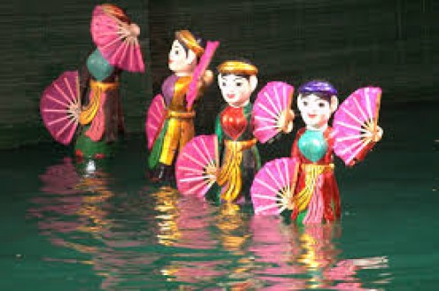 Vietnamese people are in love with water puppets and lots of them on several.