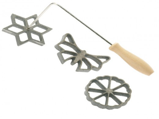 Rosette cookie irons