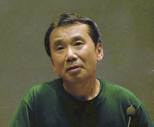 Japanese writer Haruki Murakami giving a lecture at Massachusetts Institute of Technology in 2005.