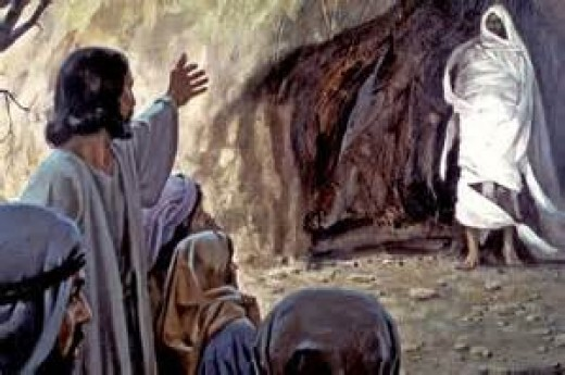 The sisters faith was rewarded, when Jesus called Lazarus out of the tomb.