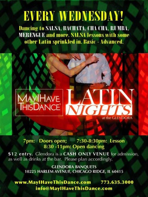 Latin Wednesdays at the Glendora, hosted by May I Have this Dance.