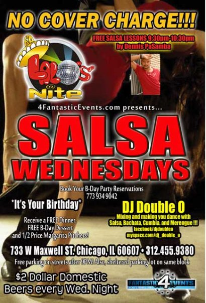 Salsa Wednesdays at Lalo's on Maxwell