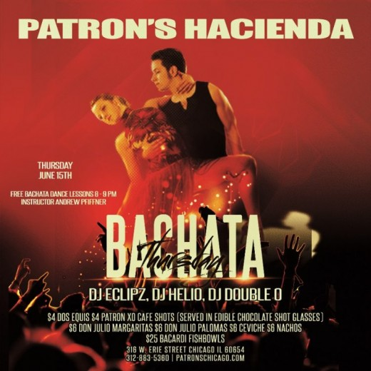 Bachata Thursdays at Patron's Hacienda