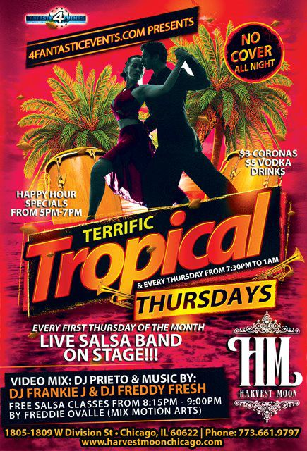 Terrific Tropical Thursdays at the Harvest Moon