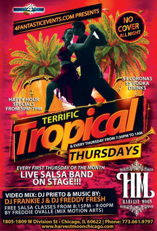 Terrific Tropical Thursdays at the Harvest Moon