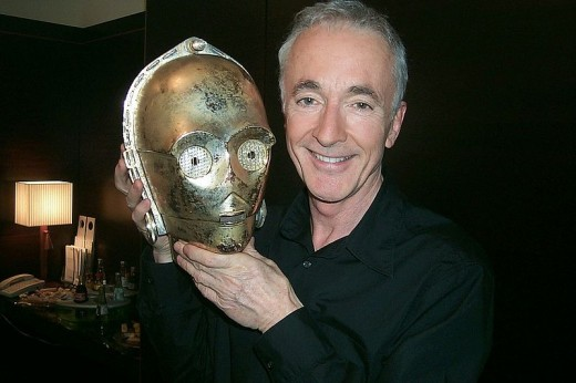 Daniels struggled to move in his costume at times, and starred as C-3PO in all of Lucas's six Star War films
