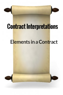 Elements in a Contract - Contract Interpretations