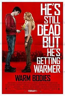 A 2013 paranormal romantic movie based on Isaac Marion's novel of the same name. Warm Bodies is directed and written by Jonathan Levine.