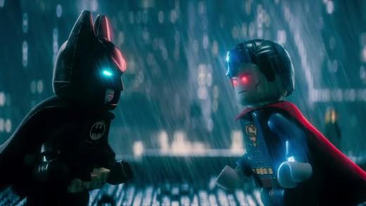 Batman v Superman: Dawn of Justice parodied in The Lego Batman Movie.