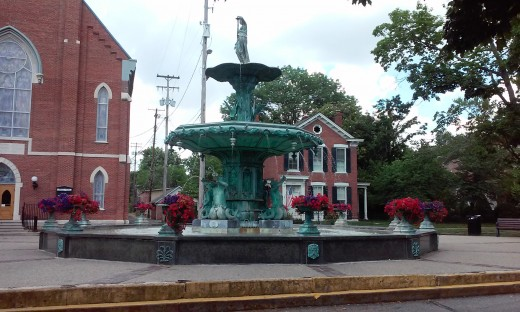 Fountain in Madison, IN, (During RIsing Star Casino Trip)