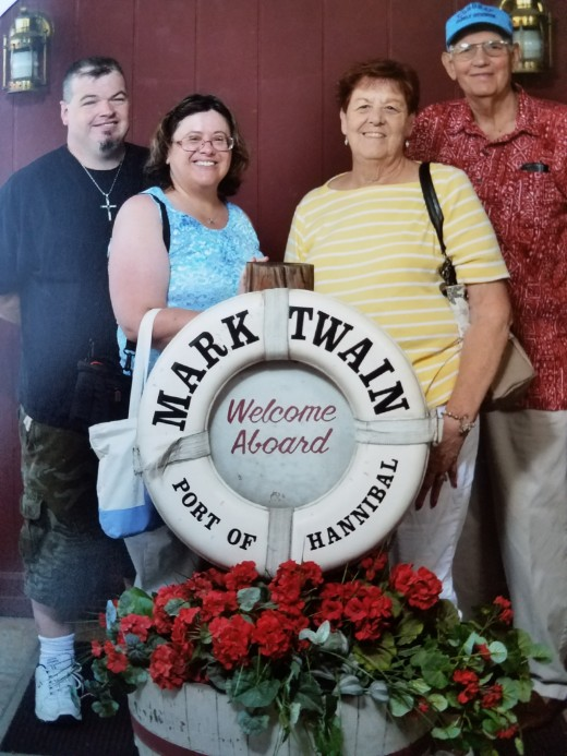 This is one of my favorite pictures of the weekend. L to R: my boyfriend, me, my boyfriend's mom, and my boyfriend's dad, who is descended from Cherokee Indian. It is nice to be part of a large tribe again!!
