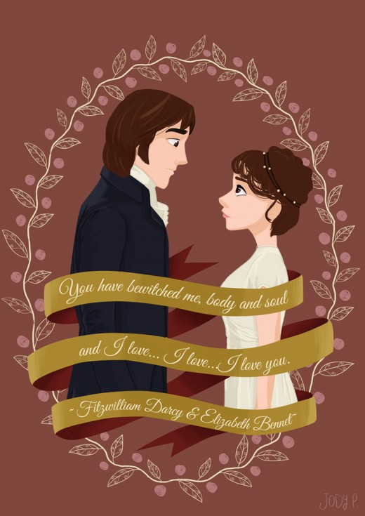Mr Darcy and Elizabeth. I do not take credit for the image.