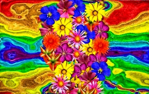 Floral Rainbow (My art)
