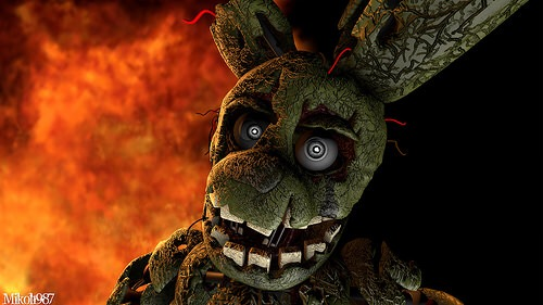 Just gonna give you the awesomeness of Springtrap up front. He's only in Nightmare version.