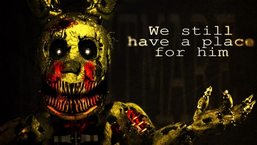 "THE PUPPET: ""This is Springtrap. And yes, we have a place for you. Come on in."""