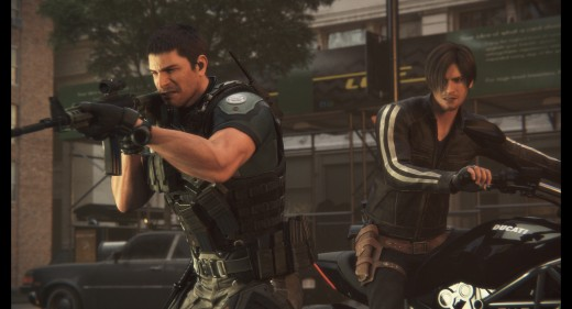 Chris Redfield (Kevin Dorman) and Leon S. Kennedy (Matthew Mercer)