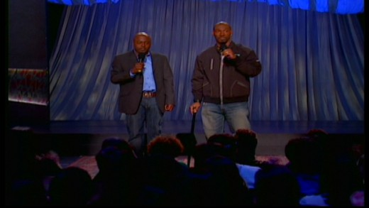 Donnell Rawlings & Charlie Murphy close out the final episode of Chappelle's Show. Image copyright of Comedy Partners.