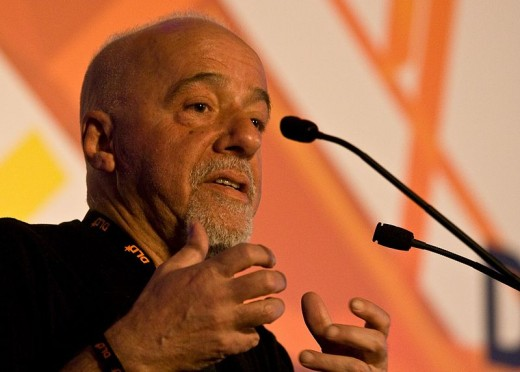 Paulo Coelho. This file is licensed under the Creative Commons Attribution-Share Alike 2.0 Generic license.