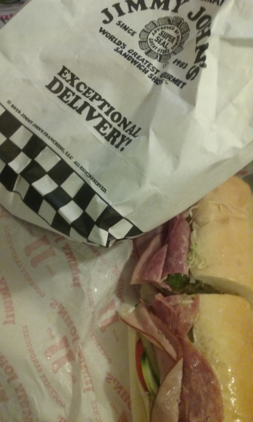 "Jimmy John's sandwiches were received with ""exceptional delivery"""
