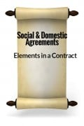 Elements in a Contract - Domestic and Social Agreements