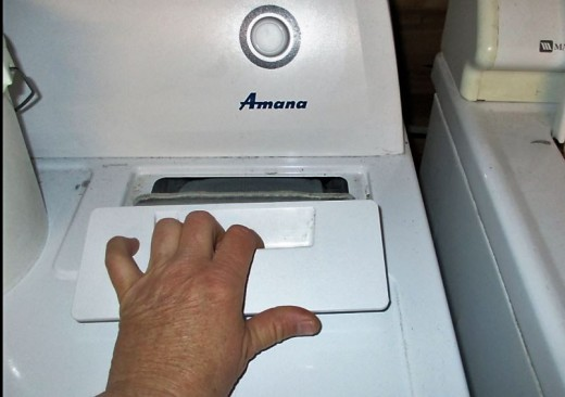 The Dryer Lint Removal - Pulling Up and Out Using Side to Side to Remove Lint - Reverse to Reinsert