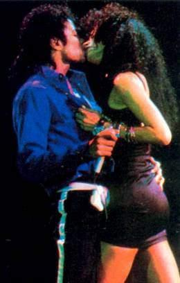 Tatiana kissing Michael