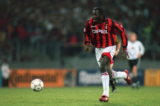 George Weah in AC Milan colors